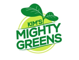 Kims Mighty Greens logo design