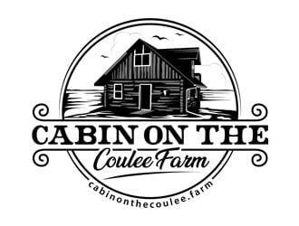 Cabin On The Coulee Farm or cabinonthecoulee.farm logo design