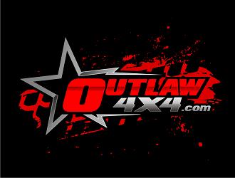 Outlaw 4x4 logo design