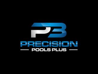 Precision Pools Plus  logo design