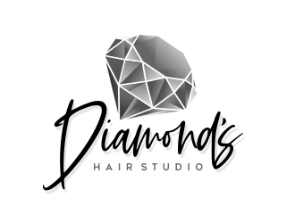 Diamonds Hair Studio logo design