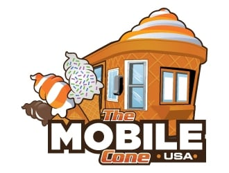 The Mobile Cone logo design
