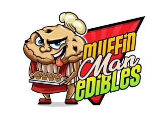 Muffin Man Edibles  logo design winner