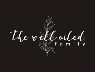 The well oiled family  logo design
