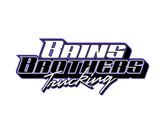 BAINS BROTHERS TRUCKING / BAINS BROS TRUCKING logo design