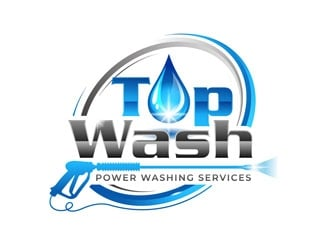 Top Wash   Power Washing Services logo design winner