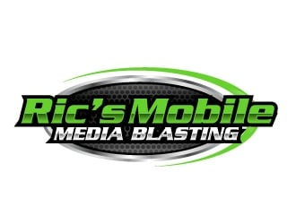 Ric's Mobile Media Blasting logo design