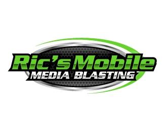 Ric's Mobile Media Blasting logo design