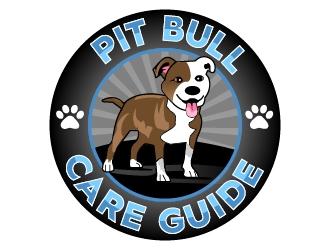 Pit Bull Care Guide logo design