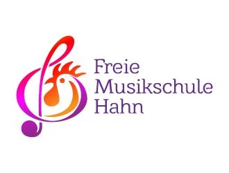 Freie Musikschule Hahn logo design