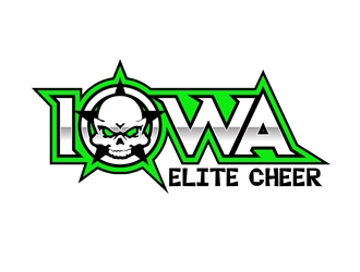 Iowa Elite Cheer (Skull & Bones - I will Attach our most recent)  logo design