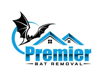 Premier Bat Removal logo design