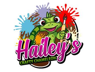 Haileys Crafty Chameleon logo design