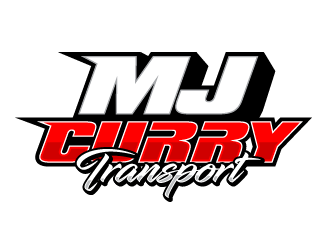 MJ Curry Transport logo design