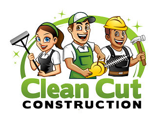 Clean Cut Construction LLC logo design