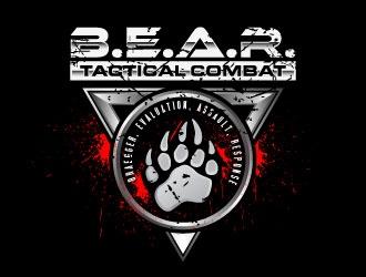 B.E.A.R. TACTICAL COMBAT logo design