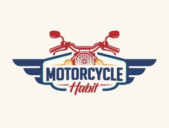 Motorcycle Habit logo design