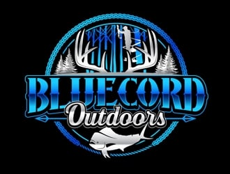 Blue Cord Outdoors logo design