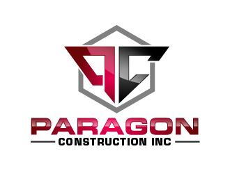 Paragon Construction Inc logo design