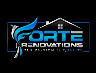 Forte Renovations logo design