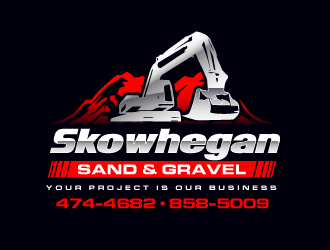 Skowhegan Sand & Gravel logo design