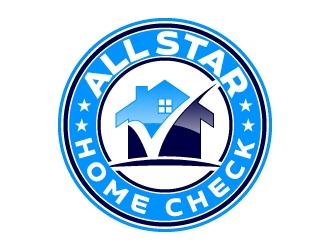 All Star Home Check logo design