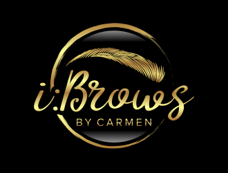 i : Brows by Carmen logo design