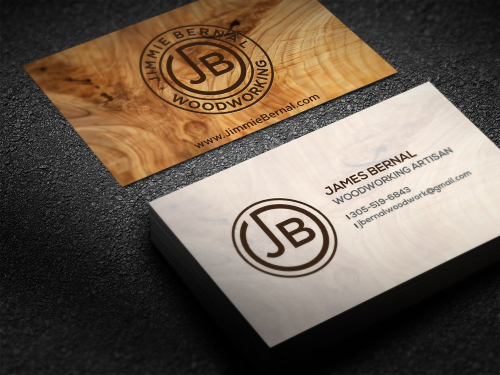 Jimmie Bernal Wood Turning brand identity winner