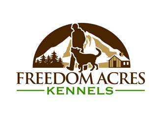 Freedom Acres Kennels  logo design