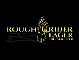 Rough Rider Lager or Rough Rider Beer logo design
