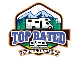 Top Rated Travel Trailers logo design winner