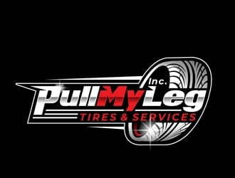 Pull My Leg, Inc. Tires & Services logo design