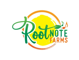 Root Note Farms logo design