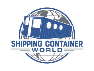 Shipping Container World  logo design