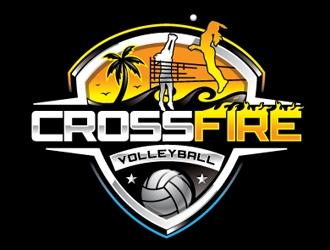Crossfire Volleyball logo design