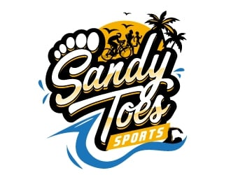 Sandy toes sports logo design