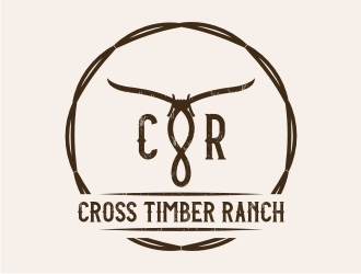 Cross Timber Ranch - CTR logo design