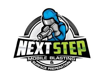 NEXT STEP mobile blasting & surface preperation logo design