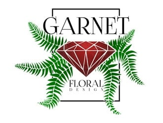 Garnet Floral Design logo design