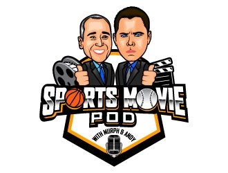 Sports Movie Pod with Murph & Andy logo design