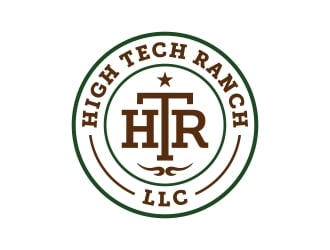 High Tech Ranch, LLC (HTR) logo design