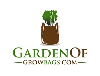 GardenOfGrowBags.com logo design