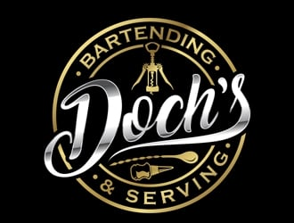 Dochs Bartending & Serving logo design