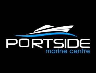 PORTSIDE Marine Centre logo design