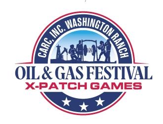 CARC, INC.Washington Ranch Oil & Gas Festival  X-Patch Games logo design