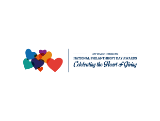 National Philanthropy Day Awards / Celebrating the Heart of Giving logo design