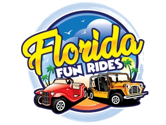 Florida Fun Rides logo design