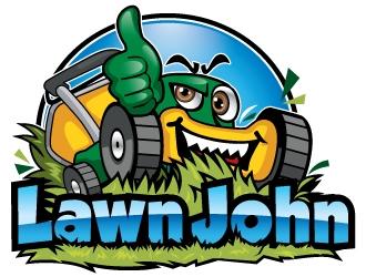 LAWN JOHN  logo design