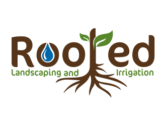 Rooted - Landscaping and Irrigation logo design