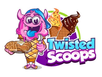 Twisted Scoops logo design